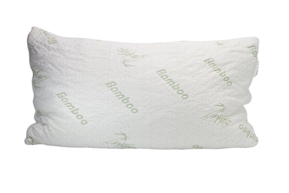 Plixio Travel Bamboo Cooling Neck Pillow Shredded Memory Foam Comfort Head Rest