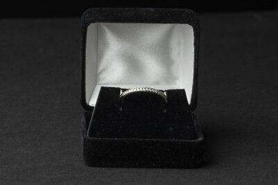 Hidalgo 18K White Gold Round Diamond Twist Cable Shank Wedding Band Ring $1,000