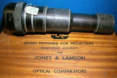 Jones And Lamson 10x Optical Comparator Lens Epic 130 Inv.4927
