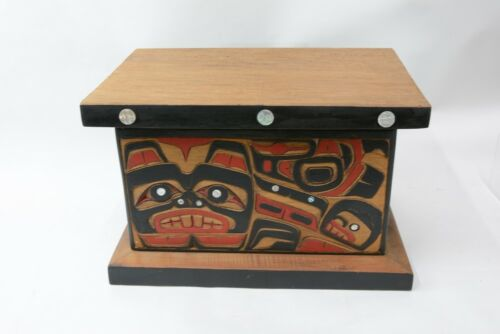 """Sampson Robertson Carved and Inlaid Beaver Box;; 10.5""""h x 16.5 x 11.5"""""""
