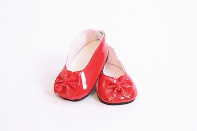 Red Ballet Flats For Girls (Red Ballet Flats with Bow Shoes made for 18