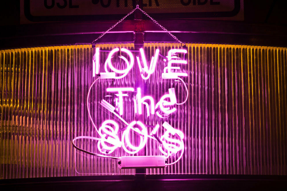 "I Love The 80'S Pink Neon Sign Beer Bar Gift 14""x10"" Light"