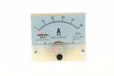 1pcs 85c1 Dc 1-50a Class 2.5 Precision Panel Mounted Analog Ammeter Meter New