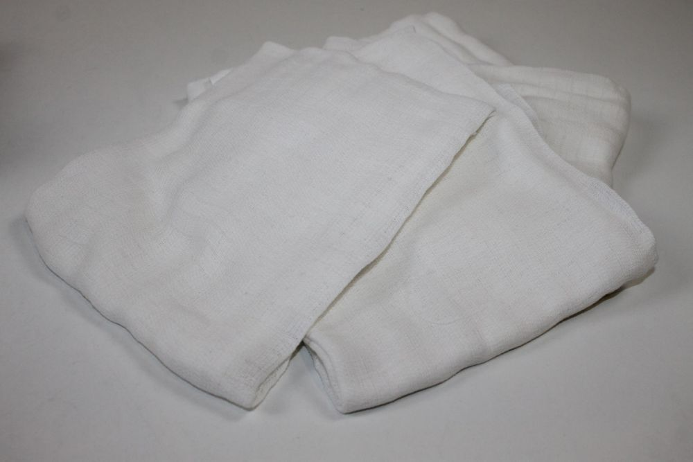 Mullwindeln 70/80 weiß Spucktücher Stoffwindeln Mehrwegwindeln