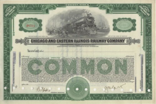 Chicago and Eastern Illinois Railway Company ca 1900