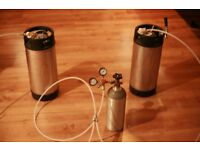 Complete home brewery: kegs, gas bottle, Co2 cylinder (full) EVERYTHING YOU NEED