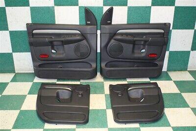 03-05 Ram Quad Cab Gray Driver Passenger Front Rear Door Panel Set Silver (2002 Dodge Ram 1500 Quad Cab Specs)