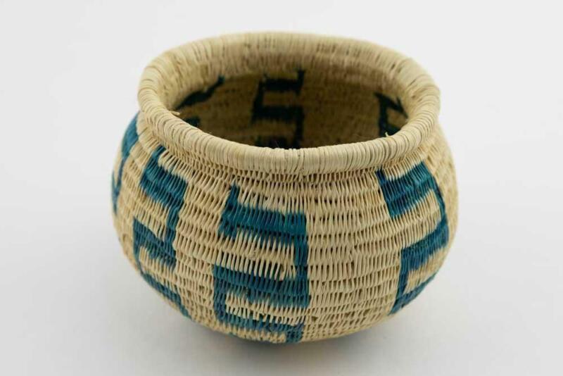 Wounaan Indian Hand Vintage Woven Classic Design Panama Basket