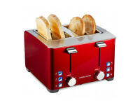 Toaster & Kettle by ANDREW JAMES red colour
