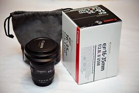 CANON 16-35 F2.8 MK11 LENS - AS NEW -1 YEAR OLD