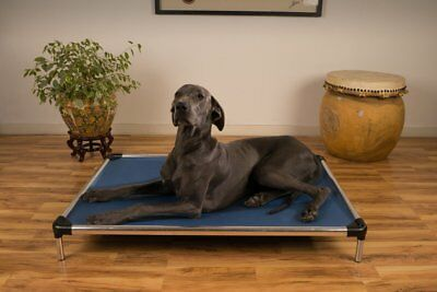 X-Large Dog Cot Raised Aluminum Indestructible High Chew Proof Rated Easy Clean