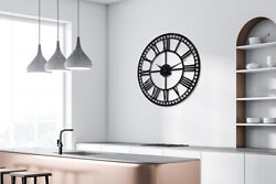 Westminster Big Ban Style Iron Wall Clock 24''Diameter Home Decorations Oversize
