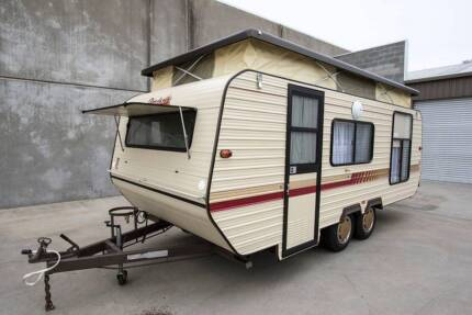 1989 17' ROADSTAR POPTOP CARAVAN USED TWICE BRAND NEW ONE OWNER