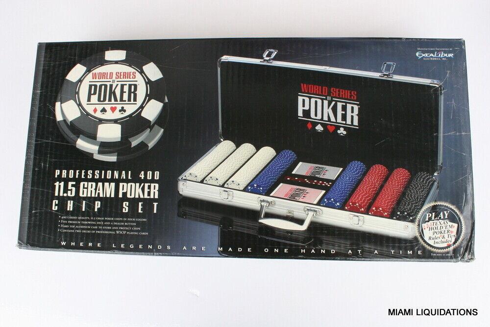 World Series of Poker 2064AWSOP2 Professional 400 115 Gram Chip Set Case