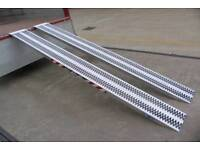 Lightweight aluminium 1 ton 1000kg loading ramps suitable for small plant digger motorbikes