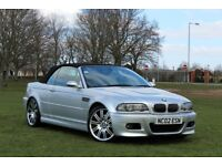 BMW M3 CONVERTIBLE SMG AUTOMATIC RED LEATHER FSH EXCELLENT EXAMPLE TOP SPEC E46 335