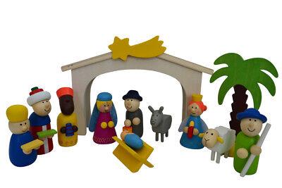 Spielkrippe aus Holz, Weihnachtskrippe aus Holz