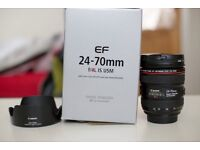 canon 24-70 f4 is usm very good condition