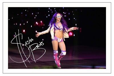 SASHA BANKS WWE WRESTLING DIVA SIGNED PHOTO PRINT AUTOGRAPH