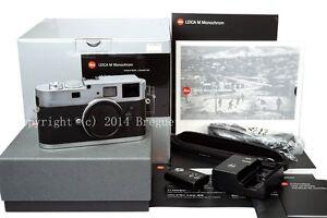 Brand-new-Silver-Leica-M-Monochrome-digital-camera-B-W-M9-P-monochrom