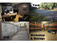 6. Various spaces, yard, office, workshop, unit, Parking, 24/7 Access, Glasgow, G41 & G5