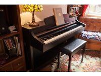 Yamaha Clavinova CLP-340 Digital Piano Dark Rosewood - Ex. Cond - Recent Service