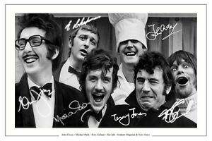 MONTY PYTHON AUTOGRAPH SIGNED PHOTO PRINT JOHN CL