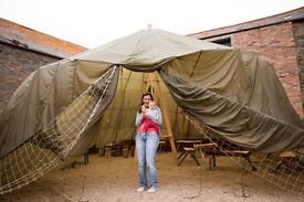 Large army parachute tent