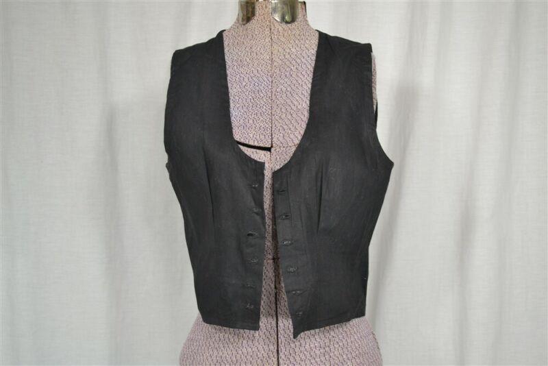 antique camisole chemise black Victorian Cotton bust 36 lace front original