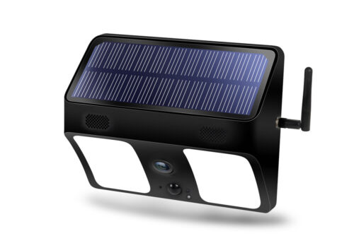 Wi-Fi Wireless Solar Security Light with Night Vision Camera