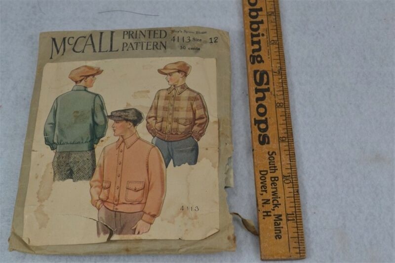 antique pattern McCall boy