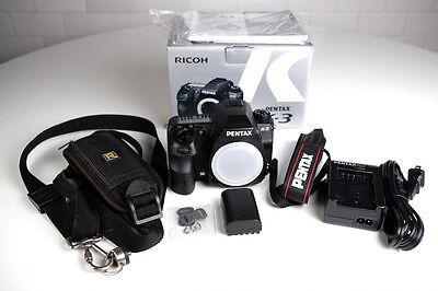 Pentax K K-3 23.4MP Digital SLR Camera - Black (Body Only)