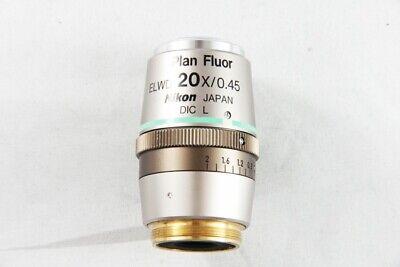 Nikon Plan Fluor Elwd 20x 0.45 Dic L Microscope Objective For Eclipse 1385