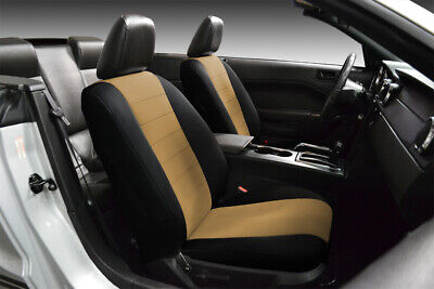 FRONT CUSTOM FIT BLACK & TAN NEOPRENE SEAT COVERS for 1996-1998 Acura TL