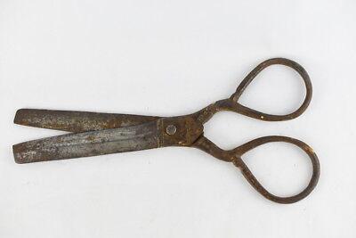 Vintage Large Handwrought Blacksmith Sheep Steel Scissors 12
