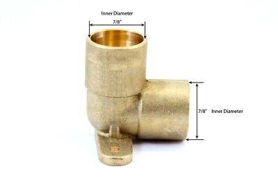 Libra Supply 3/4 inch, 3/4'' 90 Degree Brass Pressure Drop Ear Elbow, CxC, 5pcs Supply Drop Elbow