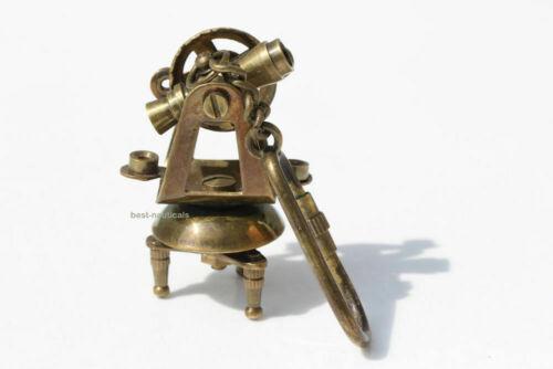 Nautical Decor Vintage Nautical Solid Brass Theodolite Key Chain Key Ring Gift