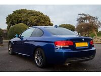 BMW 320d M Sport Coupe- Blue ,xenon, 07, Full S/H, Top spec, loads of extras! £8195