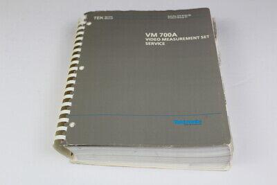 Tektronix 070-8165-00 Vm700a Video Measurement Set Service Manual Item No. 017