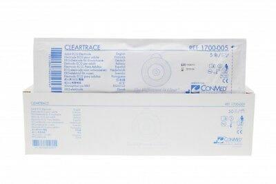 Conmed Cleartrace Clear Tape Ecg Electrode - Box Of 50