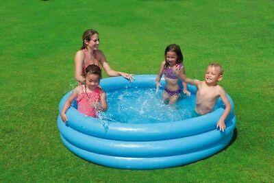 NEW INTEX CRYSTAL BLUE SWIMMING POOL OUTDOOR KIDS SUMMER GARDEN POOL BABY UK
