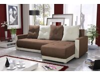 SETTEE Corner Sofa Bed COUCH storage BONELL SPRINGS
