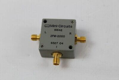 Mini-circuit Zfm-2000 15542 9327 04 Rf Microwave Mixer Radio Sma