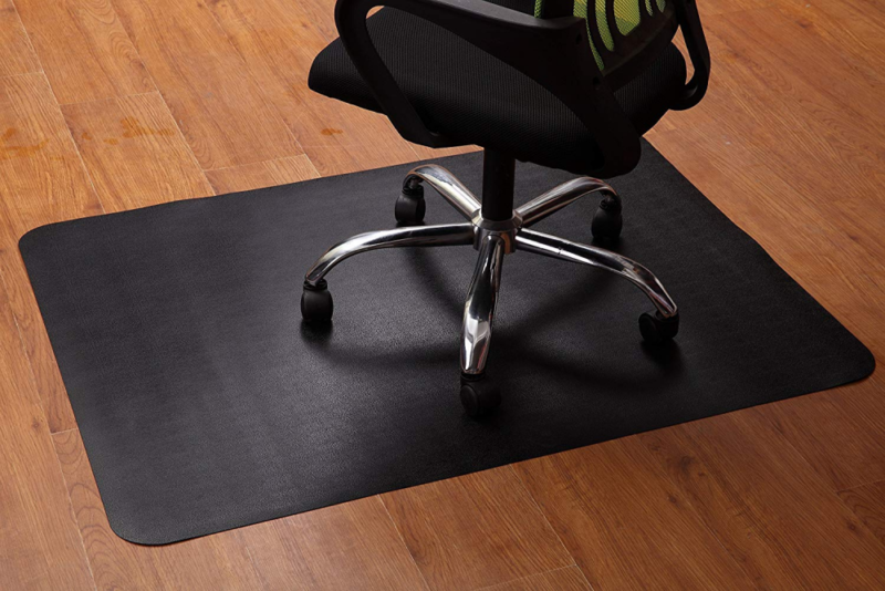 Office Chair Mat for Hardwood and Tile Floor, Black, Anti-Sl