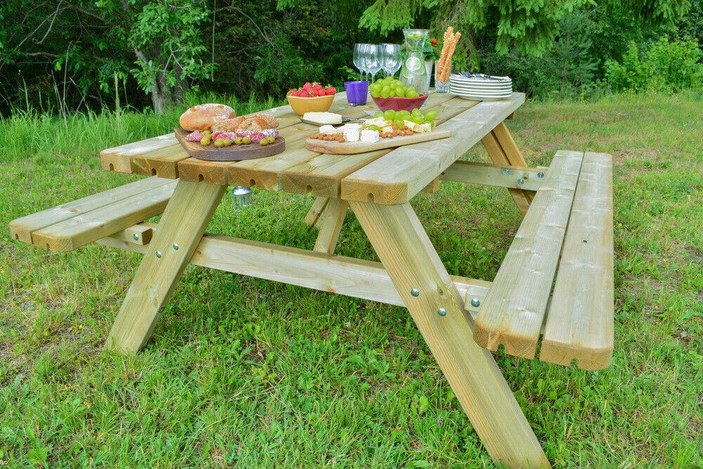 Picknicktisch Gartengarnitur Sitzgruppe Sitzgarnitur Holz Picknickbank Allround