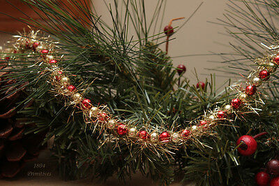 9ft ~ Red and Gold Tinsel Garland ~ Great for Feather Trees