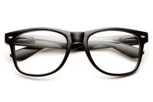 61d82814a8 Fashion Cool Unisex Clear Lens Nerd Geek Glasses Eyewear For Men Womens  Vintage
