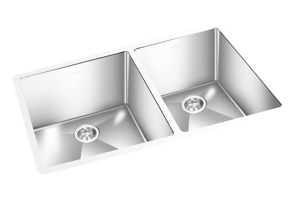 GEMINI Undermount S/S Kitchen Sink,10mm Radius Corners,18 Ga