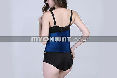 Back Support Belt Pad Waist Protector Better Pain Relief Therapy Support blue