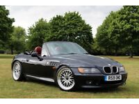 """BMW Z3 ROADSTER CONVERTIBLE RARE BLACK WITH RED LEATHER 18"""" BBS STYLE Z4 M SPORT"""